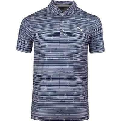 PUMA Golf Shirt Optimized Variables Bryson Polo LE Navy 2020