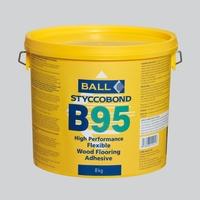 F Ball Styccobond B95 Flexible Wood Flooring Adhesive 8kg