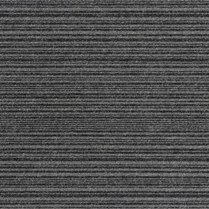 Burmatex Go To Heavy Contract Carpet Tiles Coal Grey Stripe 21902