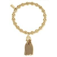 Mini Small Ball Tassel Bracelet - Gold