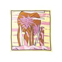 Surf Sia Silk Scarf - Pink