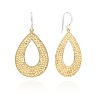 Signature Large Open Drop Earrings - Gold & Silver