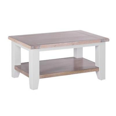 Cirencester Chalked Oak & Light Grey Rectangular Coffee Table