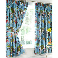 Pirate Map Curtains 72s