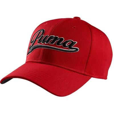 Puma Script Relaxed Golf Cap Tango Red Black AW15