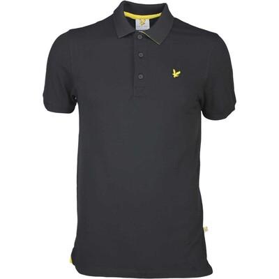 Lyle Scott Golf Shirt 8211 Kelso Tech Pique Black SS16