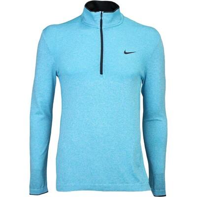 Nike Golf Jumper Flex Knit Zip Omega Blue SS16