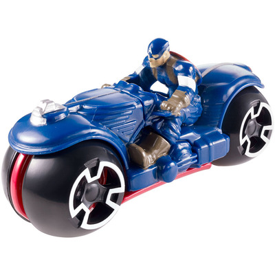 Hot Wheels Avengers Moto with Rider: Captain America