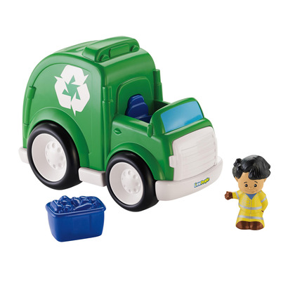 Little People Recycling Truck With Koby Figure   Fisher Price