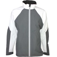Galvin Green Waterproof Golf Jacket - AMOS White - Iron Grey