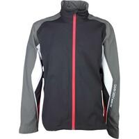 Galvin Green Waterproof Golf Jacket - ASTON Black - Red