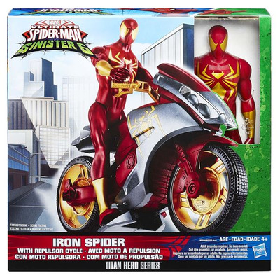 Ultimate Spider-man Vs Sinister 6 Titan Heroes - Iron Spider with Repulsor Cycle