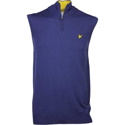 Lyle Scott Golf Jumper Lomond Merino Zip Vest Navy AW16