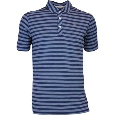 Puma Golf Shirt Mixed Stripe Peacoat AW16