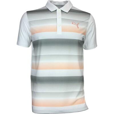 Puma Golf Shirt GT Road Map White AW16