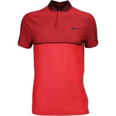 Nike Golf Shirt MM Fly BLADE Block Alpha LT Crimson AW16