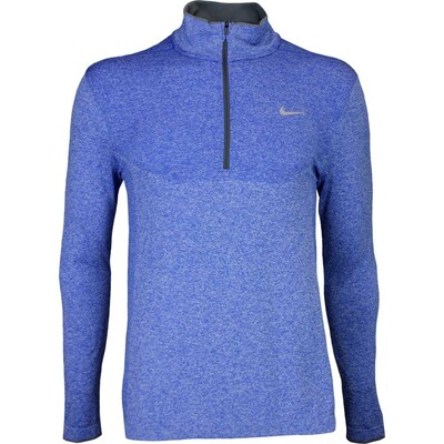 Nike Golf Pullover Flex Knit Zip Game Royal AW16