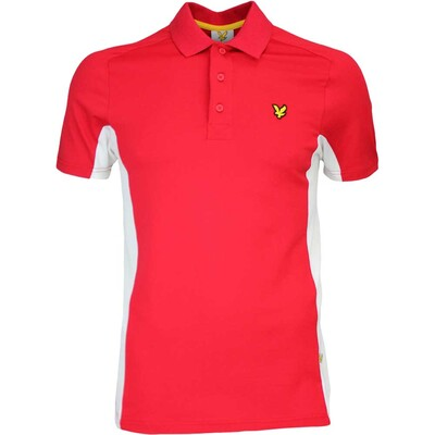 Lyle Scott Golf Shirt Ashkirk Bright Red AW16