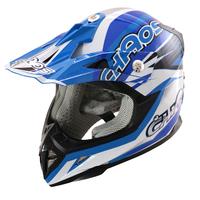 Image of Chaos Kids Motocross Crash Helmet Blue
