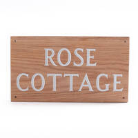 Wood House Sign 2 Line 35.5 x 20cm