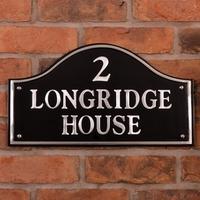 Aluminium Bridge House Sign 44.5 x 25cm
