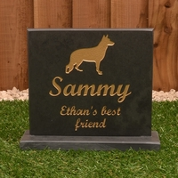 Large Slate Pet Headstone on plinth