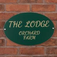 Acrylic House Sign Oval 45 x 30cm (WAC23 )