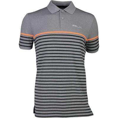 RLX Golf Shirt Striped Pique Classic Grey Heather SS17