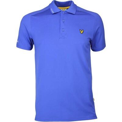 Lyle Scott Golf Shirt Hawick Tech Tour Cobalt SS17