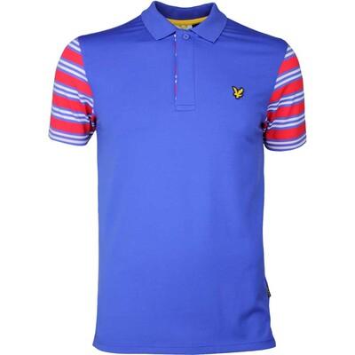 Lyle Scott Golf Shirt Dufftown Stripe Cobalt SS17