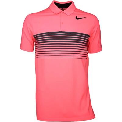 Nike Golf Shirt Mobility Speed Stripe Lava Glow SS17
