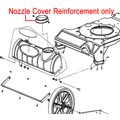 Billy Goat Billy Goat Bracket Nozzle Cover Reinforcement 840088