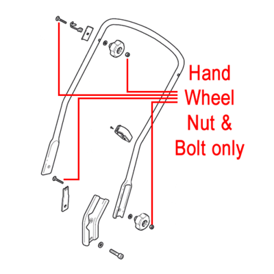 Mountfield Mountfield Handle Fixing Nut & Bolt 112361005/0 & 112820655/0