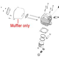 Image of Mitox Chainsaw Muffler MIYD45.01.09.01-00