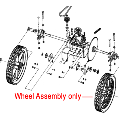 "Billy Goat Billy Goat 14"" Wheel Assembly 840102"