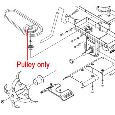 AL-KO AL-KO MH370-4 Cultivator Pulley 460344