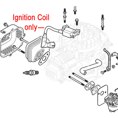 Mountfield Mountfield WB45 / ST45 Engine Ignition Coil 118550901/0