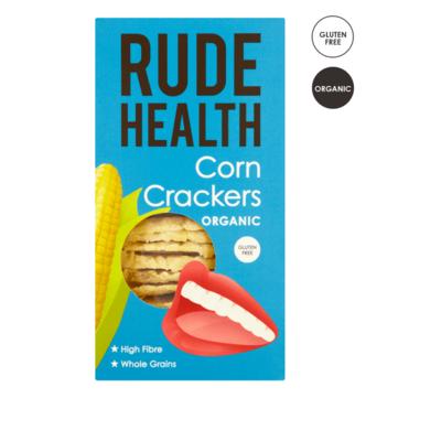 Rude Health Organic Corn Crackers 130g