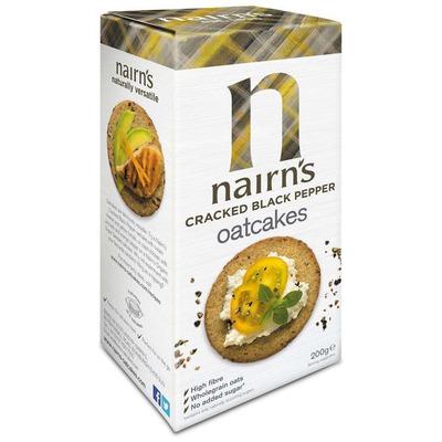 Nairn's Cracked Black Pepper Oatcakes 200g