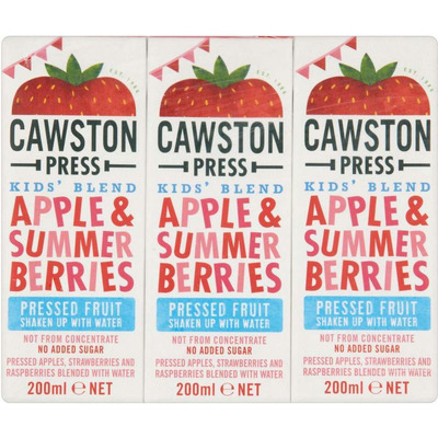 Cawston Press Kids Blend Apple & Summer Berries 3 x 200ml