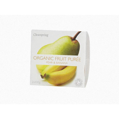 Clearspring Organic Fruit Purée Pear & Banana 2 x 100g