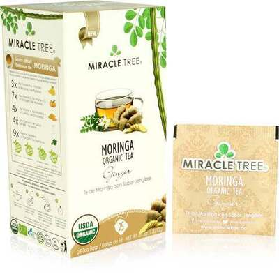 Miracle Tree Moringa Organic Ginger Tea 25 Bags