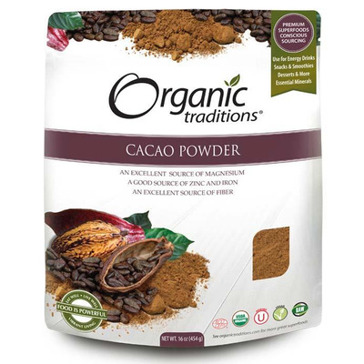Organic Traditions Gluten Free Cacao Powder 454g