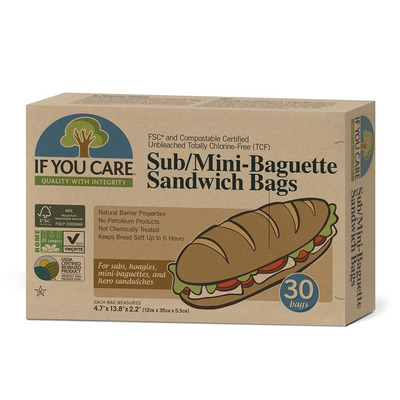 If You Care Sub & Mini Baguette Sandwich Bags 30 Pack