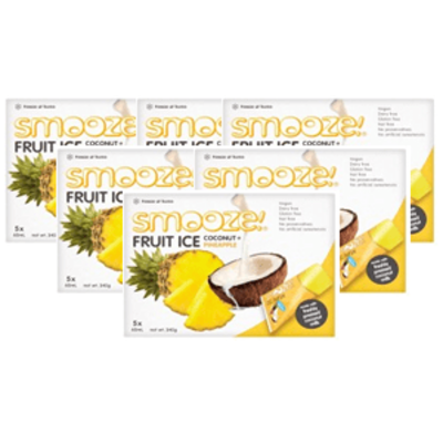 Smooze Pineapple & Coconut Fruit Ice Lollies - Pack of 6
