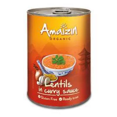 Amaizin Organic Lentils in Curry Sauce 420g