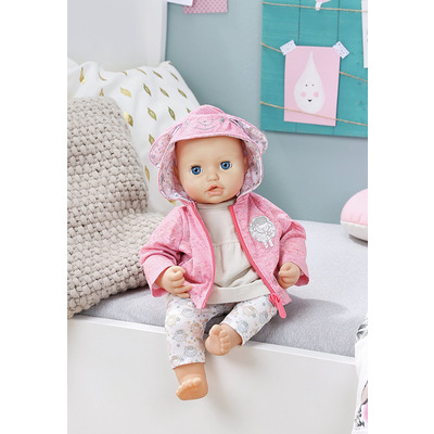Baby Annabell Play Outfit - Hooded Pink Top