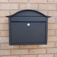 Letterboxes - Dublin Black Letterbox - without personalisation