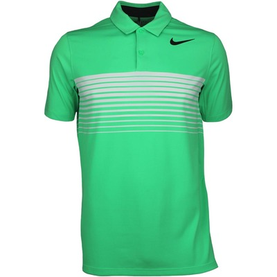 Nike Golf Shirt Mobility Speed Stripe Electro Green SS17