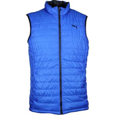 Puma Golf Gilet PWRWARM Reversible Vest Lapis Blue Black AW17